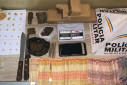 Polícia Militar de Araxá prende traficantes com maconha e crack
