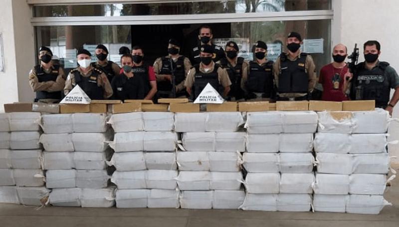 Operação policial apreende 2,5 toneladas de maconha em Uberaba